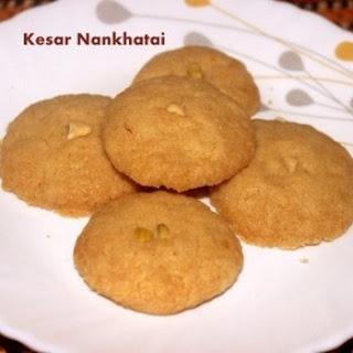 Kesar Nankhatai Biscuit Or Kesar Flavoured Nankhatai Cookies