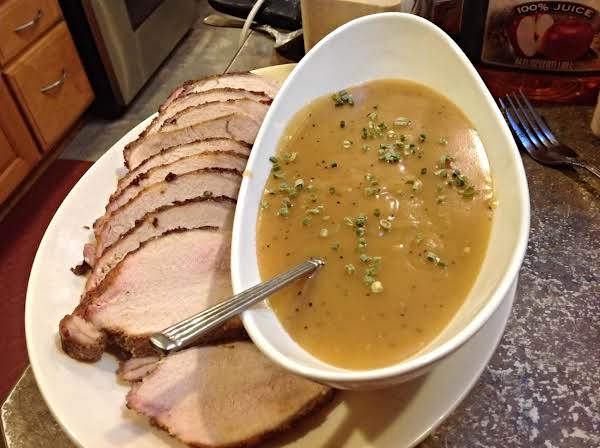 Apple Bourbon Gravy With Pork Loin Roast Recipe