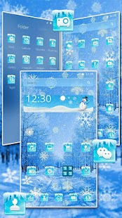 Winter Snow Launcher Theme - náhled