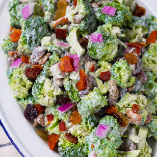 Healthy Broccoli Salad No Mayonnaise Recipes.