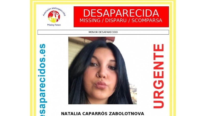 Natalia Caparrós desapareció el pasado miércoles en Vera.
