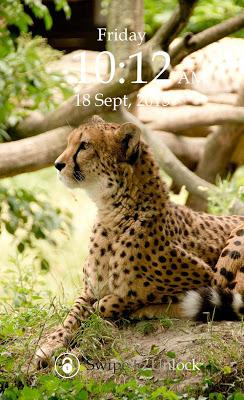 Cheetah Keypad Lock Screen - screenshot