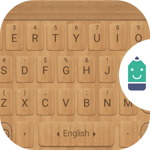 Woody Texture Theme Keyboard