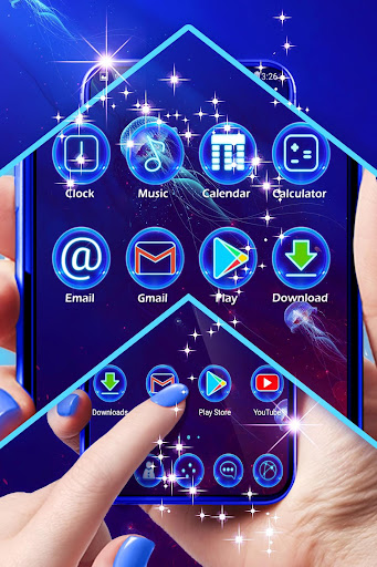 Best Blue Launcher For Android  screenshots 3