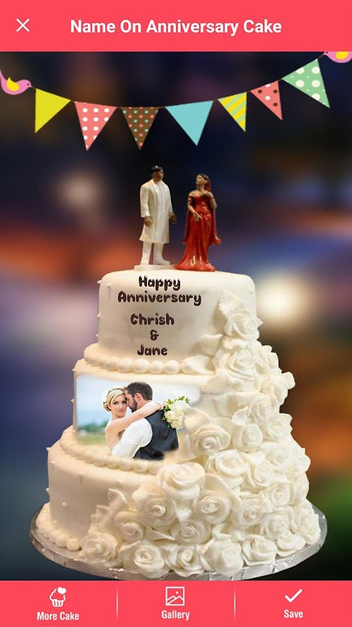 Happy Anniversary Cake With Photo Edit Marriage Anniversary Cake