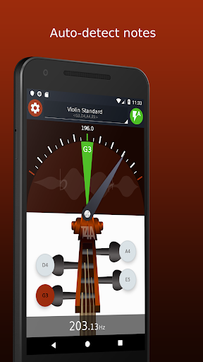 Violin Tuner - Free tuner for violin & fiddle 1.6.2 screenshots 1