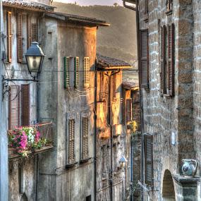 Orvieto Street by Doug Faraday-Reeves - City,  Street & Park  Neighborhoods ( orvieto, italy )