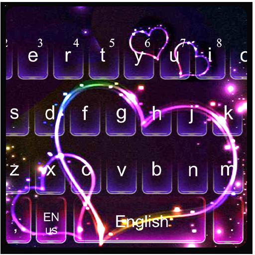 Sparkling Love Heart Keyboard