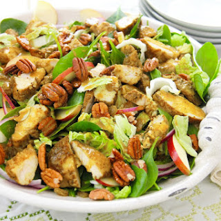 Spinach Chicken Salad With Curry Vinaigrette