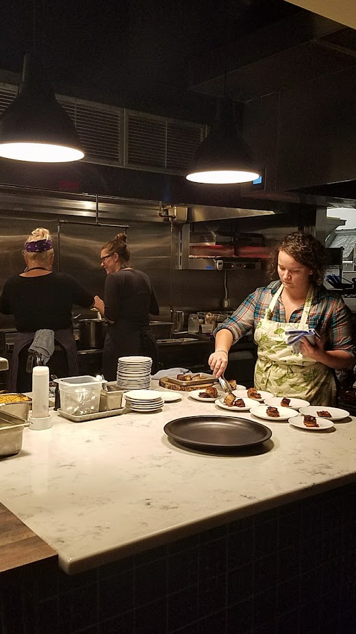 The powerhouse women who kept the food coming and coming from the kitchen for Nightwood Society's Farm 2 Turntable event