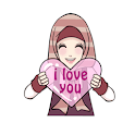 Sticker Cute Hijab Versi Inggris for WAStickerApps icon