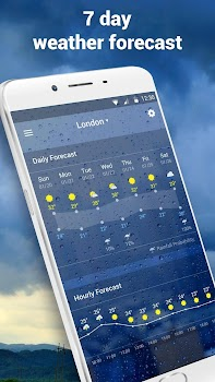Clock andWeather widget daily forecast free