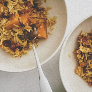 Curried Pumpkin Cranberry Rice Pilaf