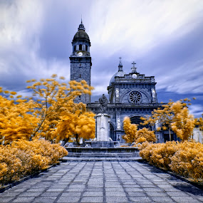 The Manila Cathedral in IR by Hiram Abanil - Buildings & Architecture Public & Historical ( intramuros, manila cathedral )