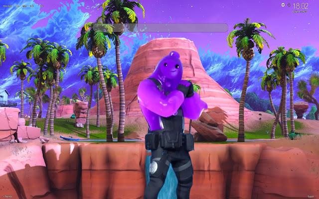 Fortnite Purple Rippley Skin HD Wallpapers