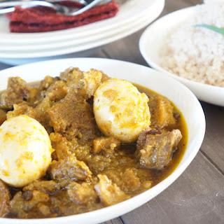 Nigerian Ayamase / Ofada Stew.