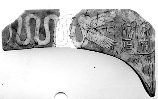 Winged serpent with the cartouches of Ramesses III