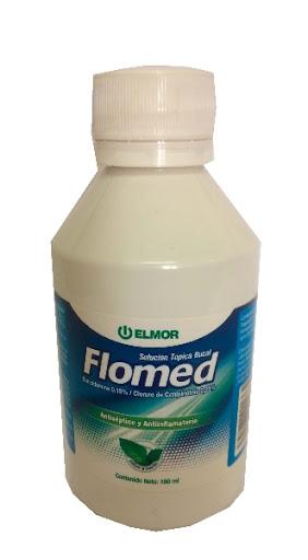 Bencidamina + Cetilpiridino Flomed Solución 0,15%-0,25%