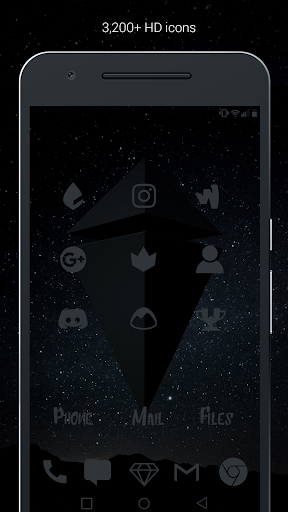 Murdered Out - Black Icon Pack (Pro Version)  screenshots 2