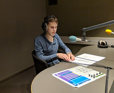 Ethan 2018, recording audio for CBC documentary
