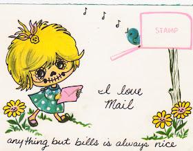 Photo: Wenchkin's Mail Art 366 - Day 256 - Card 256b