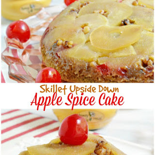 Skillet Upside Down Apple Spice Cake