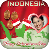 Photo Frame of Independence day Indonesia
