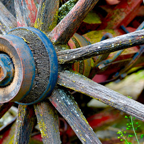 Wooden Spokes by Dave Feldkamp - Artistic Objects Other Objects ( wheel, wood, wagon wheel, wooden spokes, spokes,  )