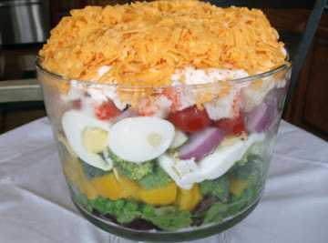 Pretty & Awesome, Layered Salad ! Recipe