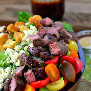 Balsamic Honey Grilled Steak Salad and Vinaigrette.