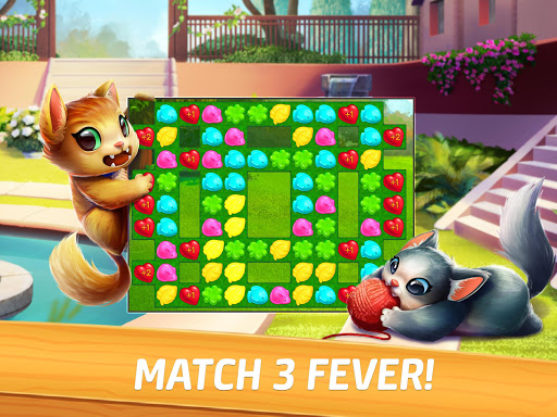 Meow Match: Cats Matching 3 Puzzle & Ball Blast apkpoly screenshots 9