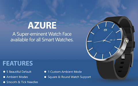 HD Watch face - Azure screenshot 6