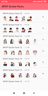 KPOP Stickers for Whatsapp - WAStickerApps Screenshot