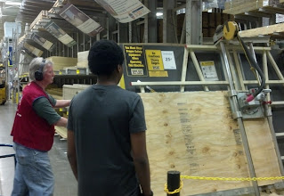 Photo: getting some plywood cut