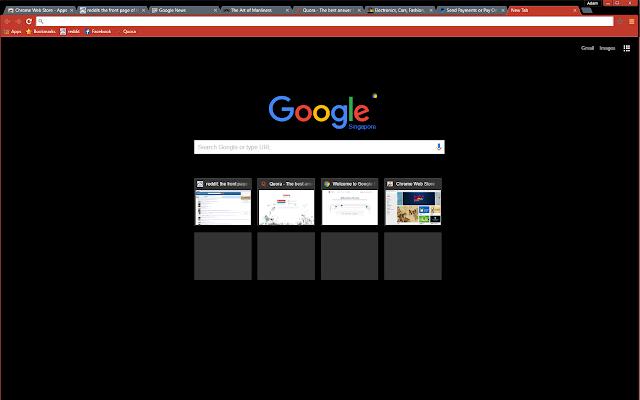 red black chrome web store