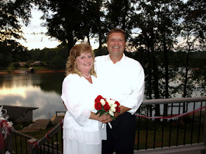 Photo: Broadway Lake - Married on the deck of their home overlooking the lake -  8/09  ~ www.WeddingWoman.net ~