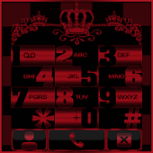 Red Chess Crown Dialer theme