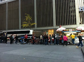 Photo: Line for a Kebab. This Kebab stand for some reason had a massive line where as all the others around it were not doing much business. This was on 5th Ave around 49th Street.