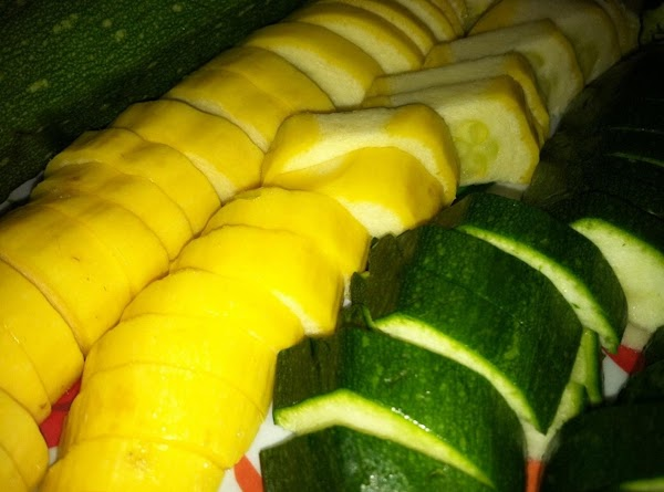 Yellow and green zucchini.
