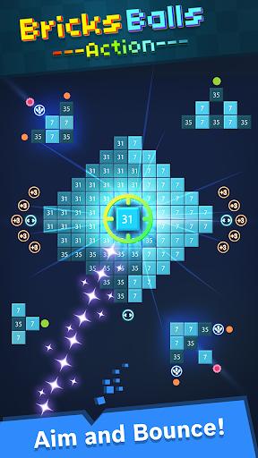 Bricks Balls Action - Bricks Breaker Puzzle Game screenshots 1