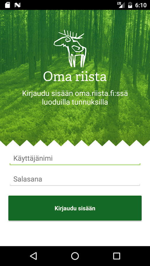 Oma riista- screenshot