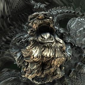 King of the gnome by Linda Czerwinski-Scott - Illustration Sci Fi & Fantasy ( fantasy, 3d, illustration, fractal, design )