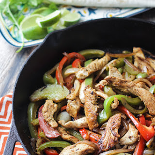 "Tequila and Lime ""Margarita"" Chicken Fajitas"