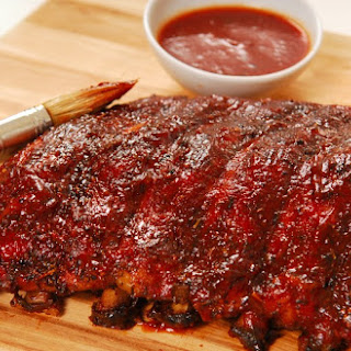 Beer Brazed Pork Spare Ribs Glazed With A Sweet Honey Barbecue Sauce.