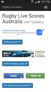 Rugby live scores Australia- screenshot thumbnail