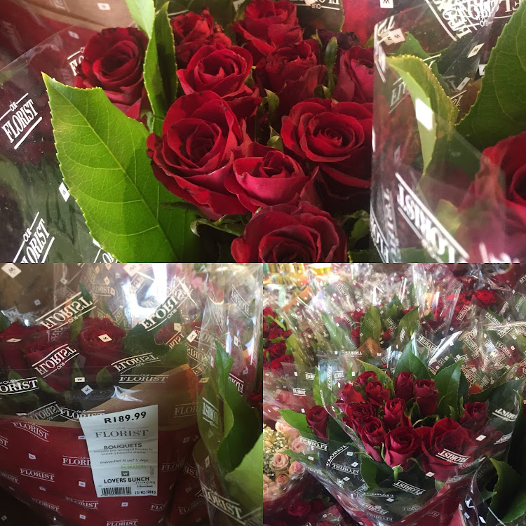 Roses at Woolies are priced at R189,99 for Valentine's Day.