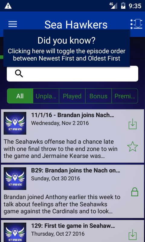 Sea Hawkers: Seattle Seahawks- screenshot