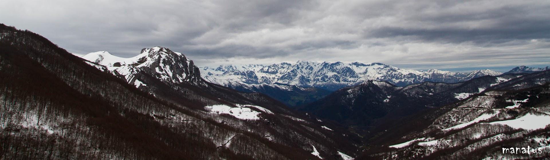 manatus panorámica nevada