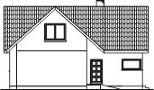 Domek Topolowy szkielet drewniany - Elewacja lewa