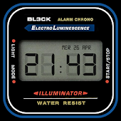 Digital Vintage Watch Face